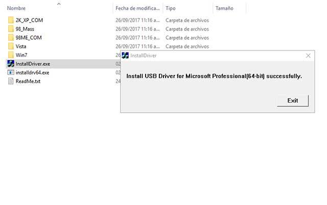 instalar drivers MTK USB