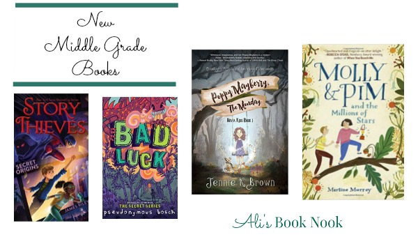 Adventurous and intriguing new books for middle grade readers 8-12