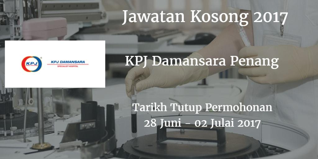 Jawatan Kosong KPJ Damansara Penang 28 Juni - 02 Julai 2017