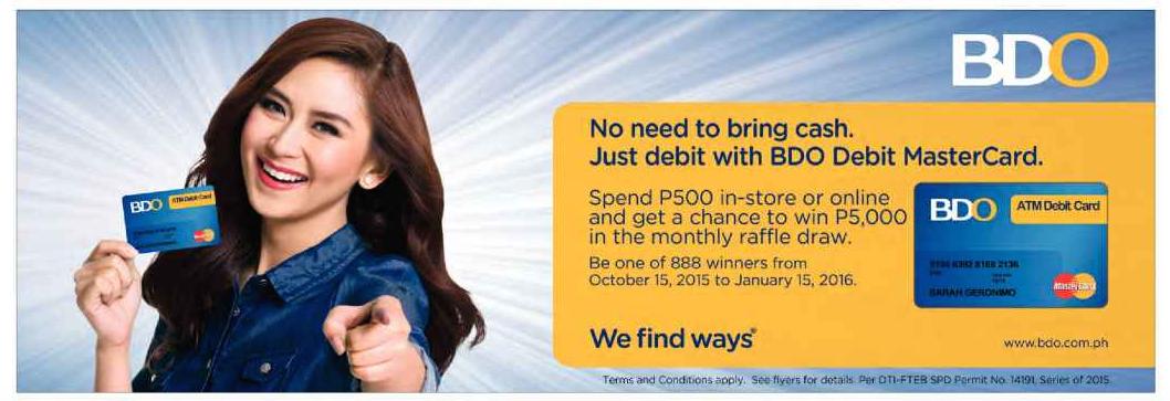 NEW ENDORSEMENT: Sarah Geronimo for Banco De Oro's BDO Debit MasterCard | Sarah Geronimo, The ...
