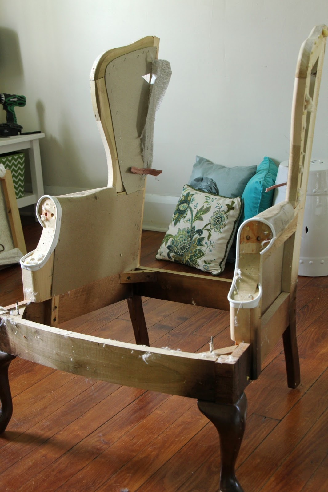 Lovely Little Life: DIY Upholstered Wingback Chair