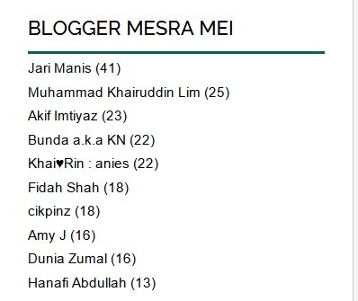 Blogger Mesra Mei 2015