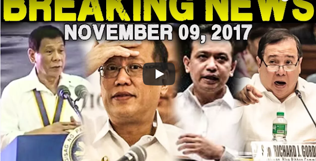 BREAKING NEWS TODAY NOVEMBER 09, 2017 - President Duterte l Noynoy Aquino l Trillanes l Gordon
