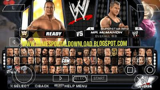 WWE SmackDown Vs Raw 2011 For PPSSPP ISO Full Game Download