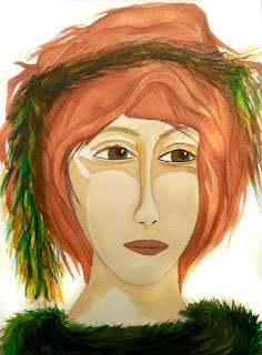 Warrior Woman with No Apologies Original Watercolor Painting from Warrior Women series