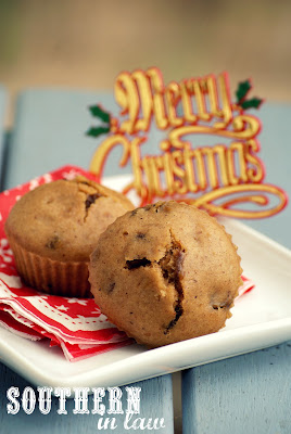 Healthy Low Fat Steamed Christmas Pudding Muffins