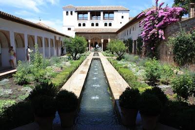 Acequia courtyard in Generalife Gardens