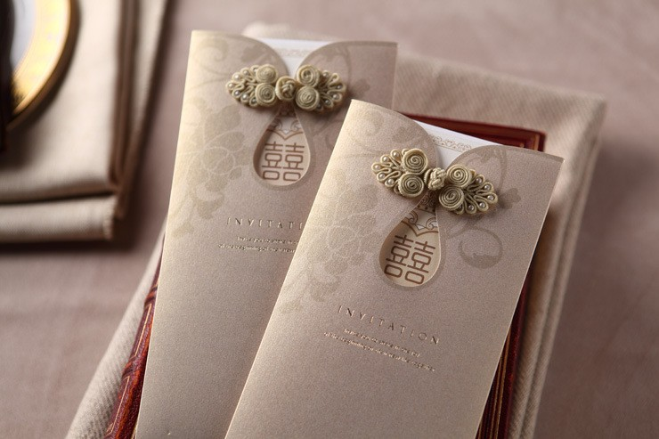 Designs For Wedding Invitation Cards: Chinese Button Oriental Wedding Card Malaysia