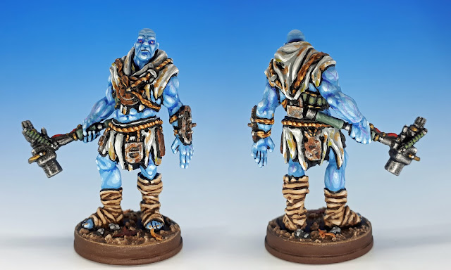 Painted miniature of the Mutant, Fallout Board Game