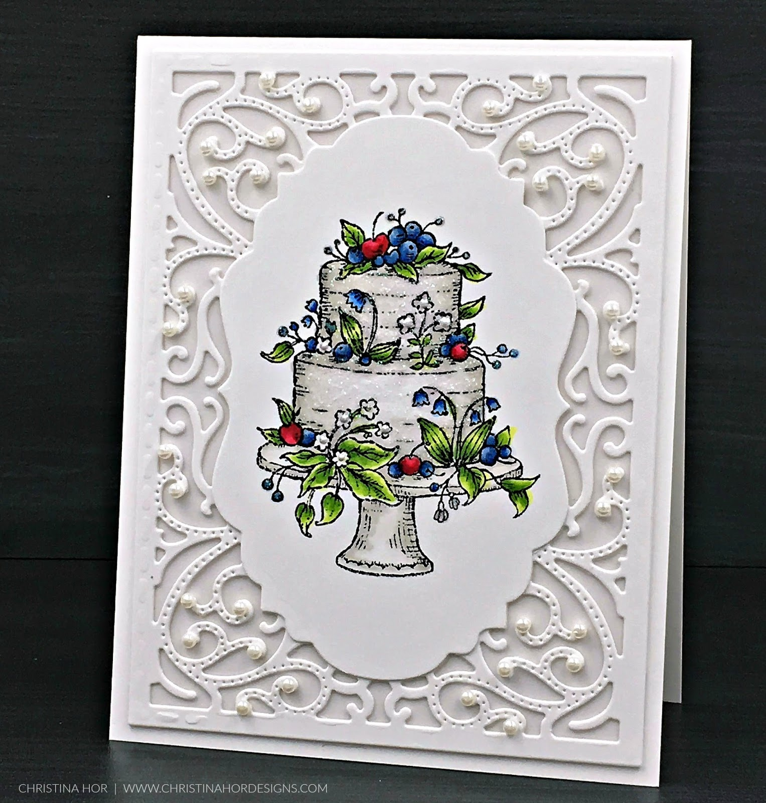 Intricate Wedding Card
