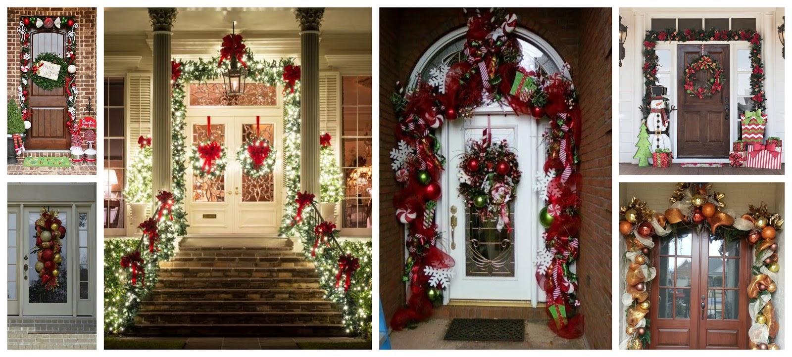 15 ideas espectaculares para decorar puertas en navidad for Decoracion puertas navidad