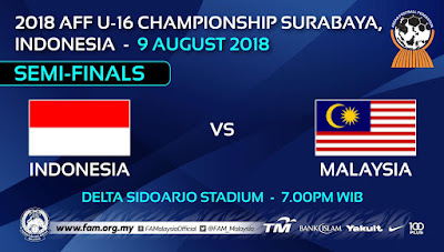 Live Streaming Malaysia vs Indonesia AFF U16 ( 9.8.2018 )