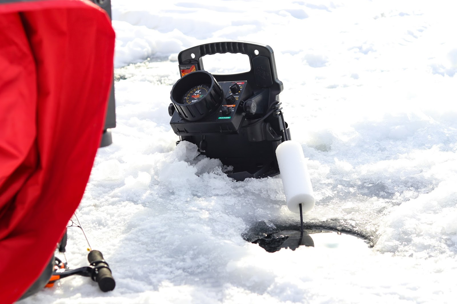 Carf outdoors white bear lake perch for Snow bear ice fishing