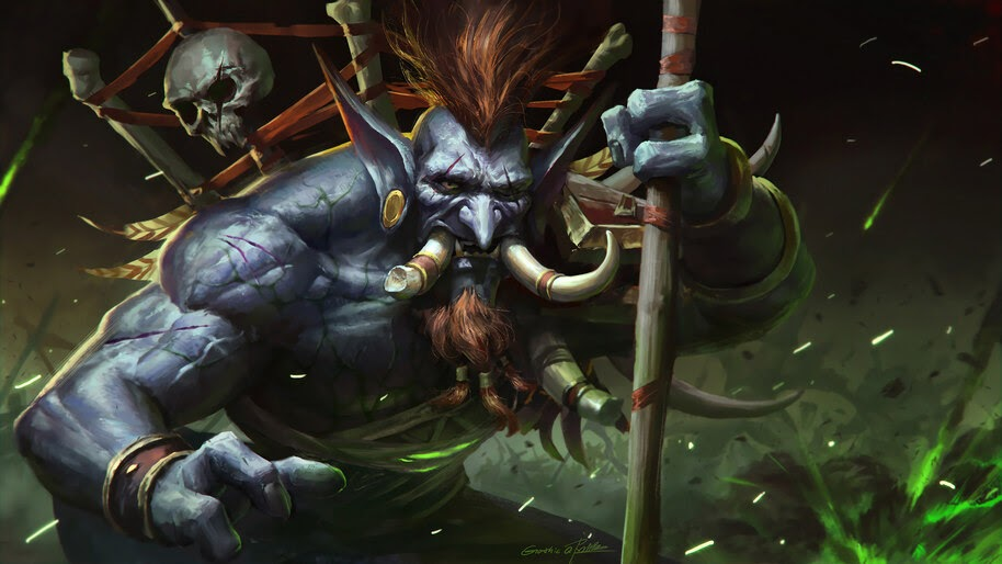 Vol Jin Wow Fantasy Troll 4k Wallpaper 3 979