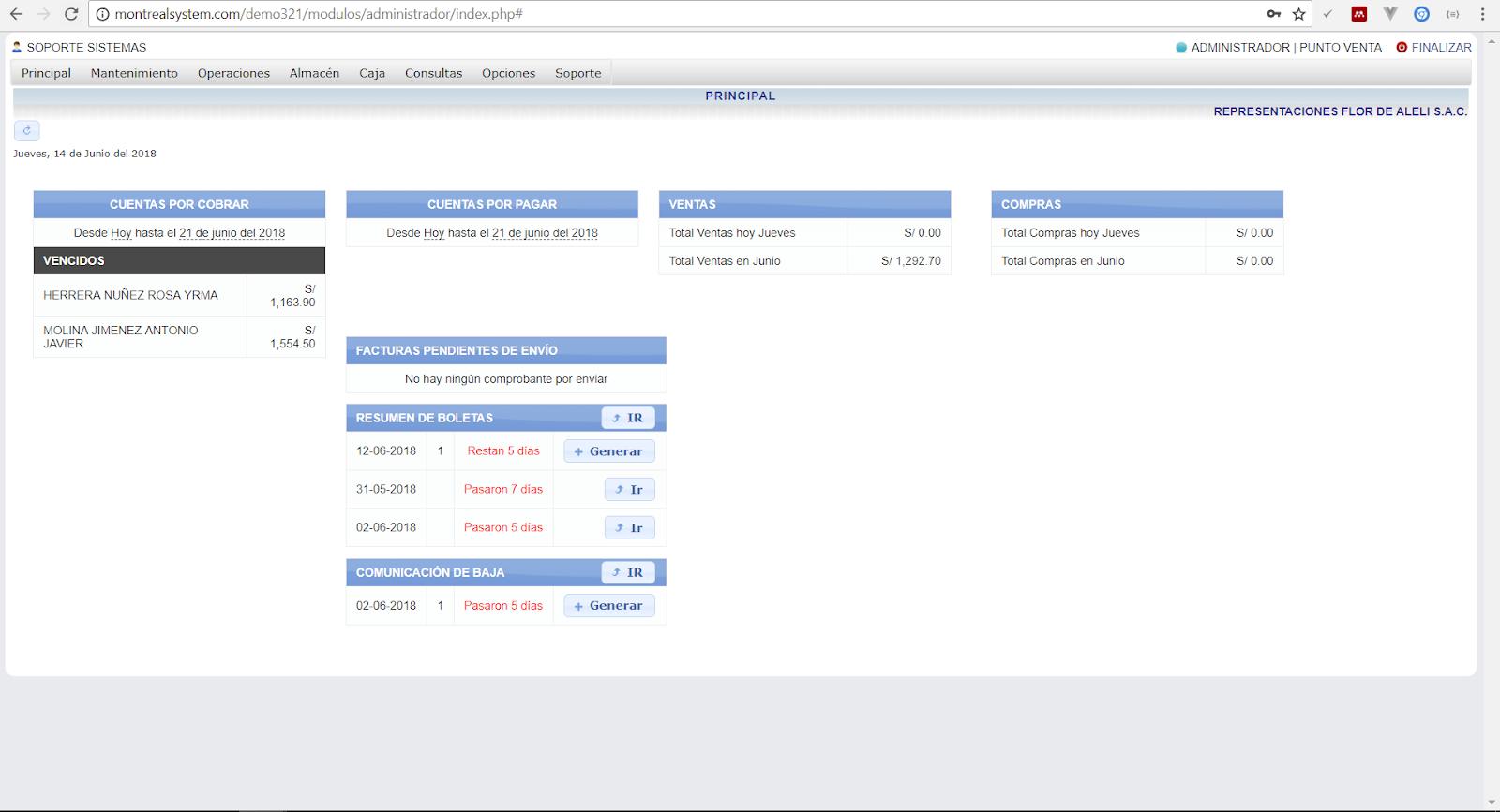 Sistema comercial (compras, ventas) logístico integrado con ...