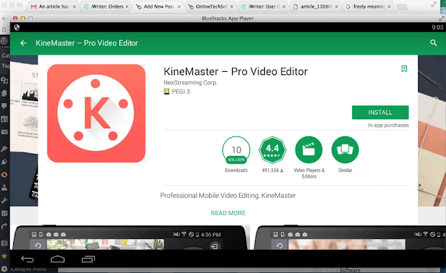 Cara Download dan Install Kinemaster di Laptop / PC