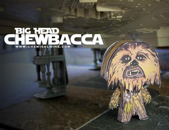 Papercraft de Chewbacca. Manualidades a Raudales.