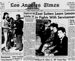 zoot suit riots ethnic and racial The so-called zoot suit riots in los angeles in june of 1943 made latin ameri- cans more aware of the negative racial attitudes within the united states toward mexicansthrough the publicity surrounding the riots, they also first learned of.