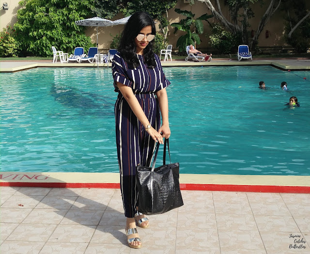 How To Style A Striped Jumpsuit