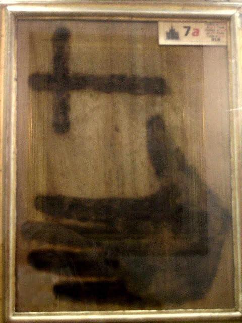 Uma das 3 marcas deixadas pelo abade Panzini.