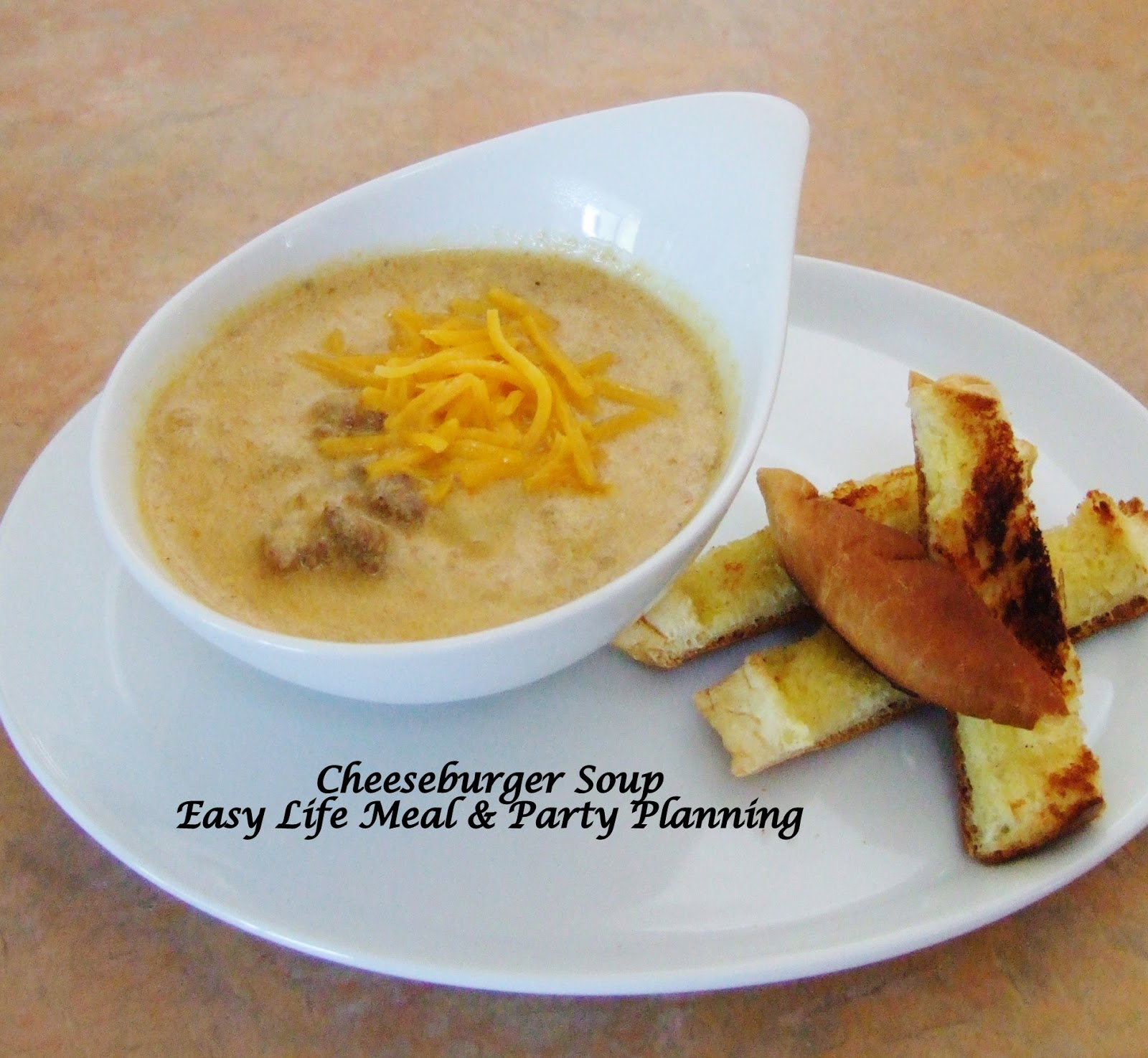 Cheeseburger Soup by Easy Life Meal & Party Planning