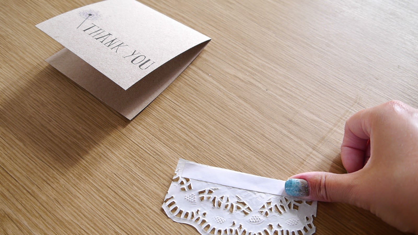 how to make a rustic thank you card
