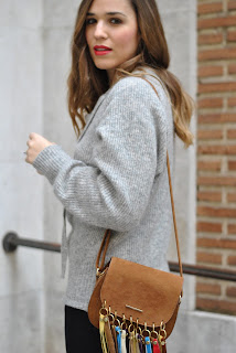 Criss-Cross Grey Sweater
