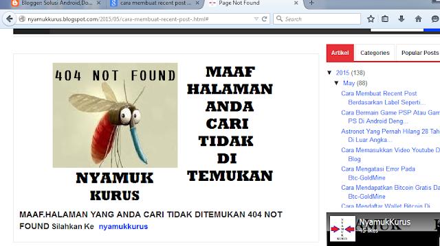 Cara Membuat Halaman 404 Not Found Dengan Keren