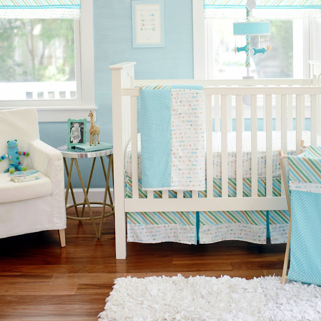 Vegan Mom Blog Therightonmom Com Aqua Baby Room Bedding