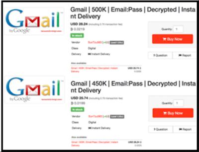 Sekitar 1 Juta Akun Email Dan Password Gmail Hanya Di Hargai 700 Ribu Rupiah Di Darkweb