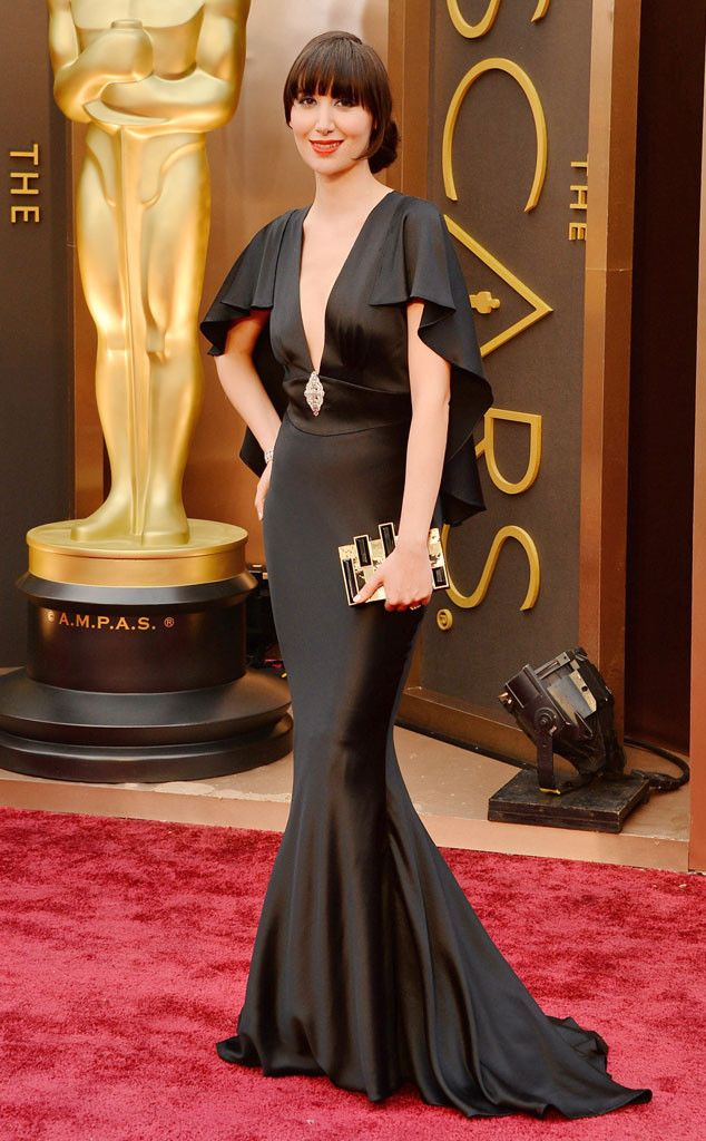 Karen O in a black vintage inspired Camilla Staerk dress at the Oscars 2014