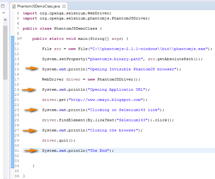 Selenium-By-Arun: PhantomJS - Executing Selenium Automation scripts
