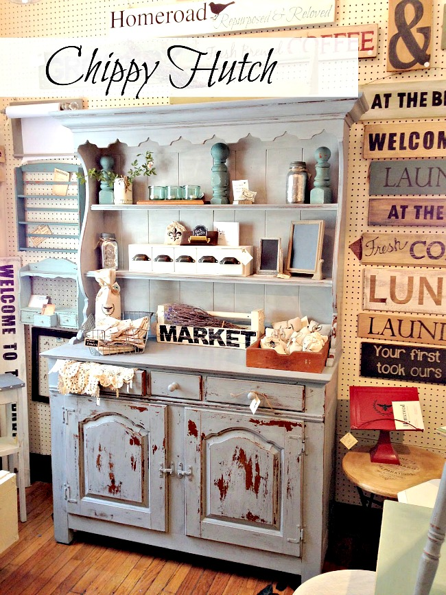 Miss Mustard Seed Painted Hutch in the Homeroad shop