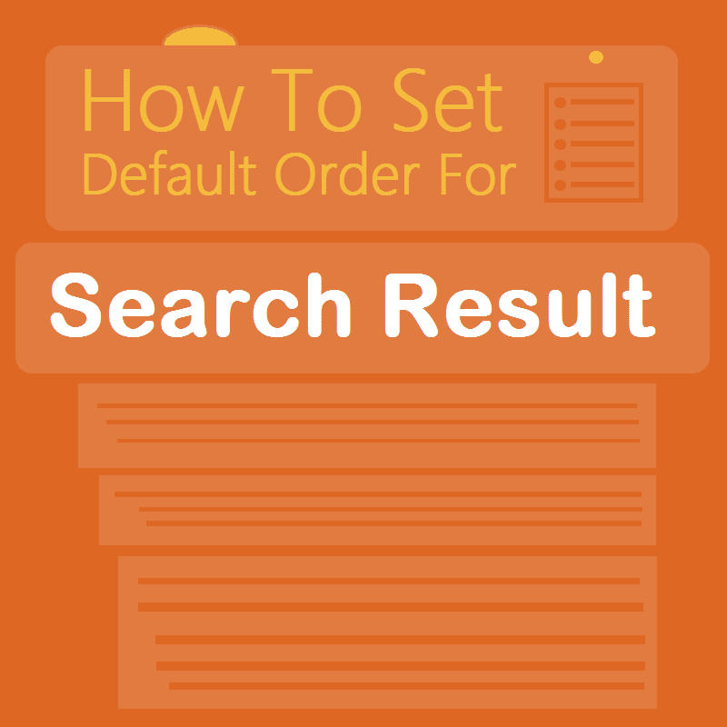 How to set Sort by date as default sorting order in blogger