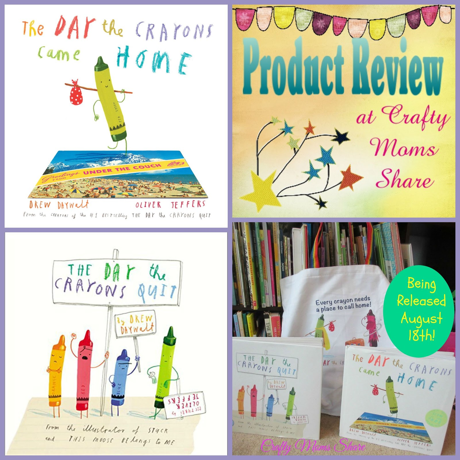 crafty moms share the day the crayons came home book review