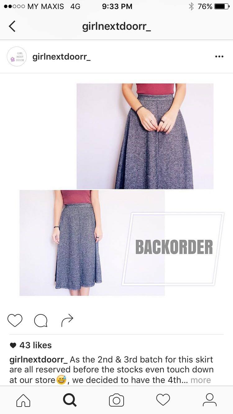 a8efb4bdc15188 ... makes you look slimmer. Too bad when I order this skirt it was the last  batch