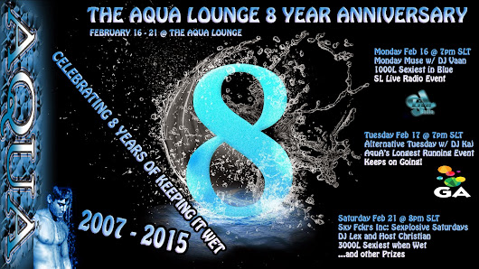 DJ InsyX's Blog: COME CELEBRATE 8 YEARS OF THE AQUA LOUNGE THIS WEEK
