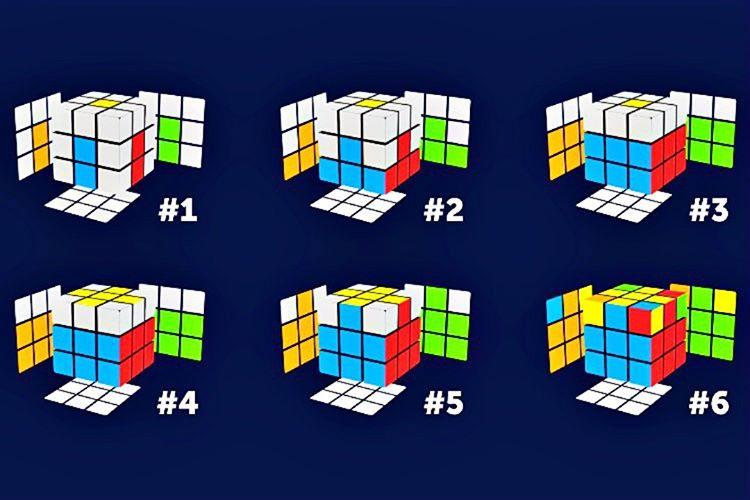 3x3'lük bir Rubik Küp'ü çözebilmek için küpün yapısını ve katmanlarını iyi tanımak gerekir.