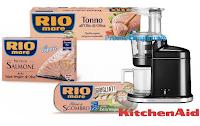 Logo Rio Mare #IlPesceFaBene - 3° edizione : vinci 11 estrattori di succo KitchenAid Artisan.