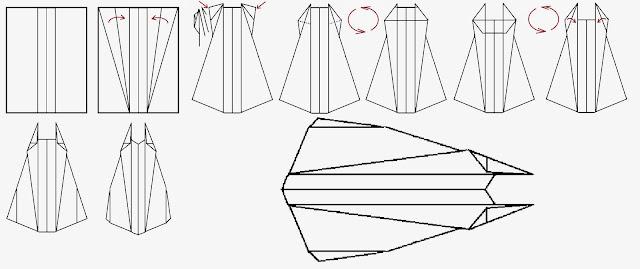 Avión de papel Wing 14