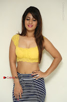 Cute Telugu Actress Shunaya Solanki High Definition Spicy Pos in Yellow Top and Skirt  0008.JPG