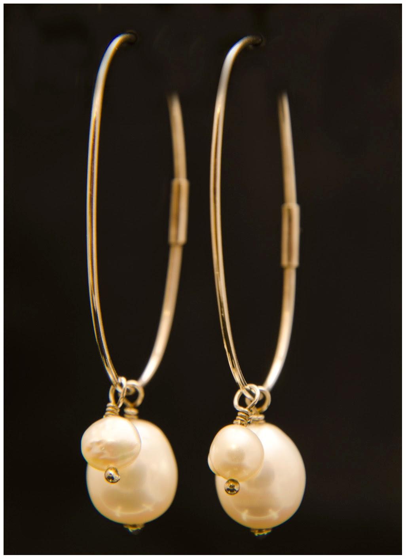 Pendientes plata perlas barrocas aros complementos tendencias regalo dia de la madre