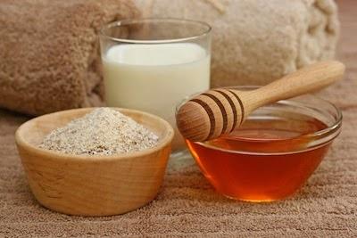 ماسك الشوفان والحليب والعسل لتفتيح وتقشير البشرة