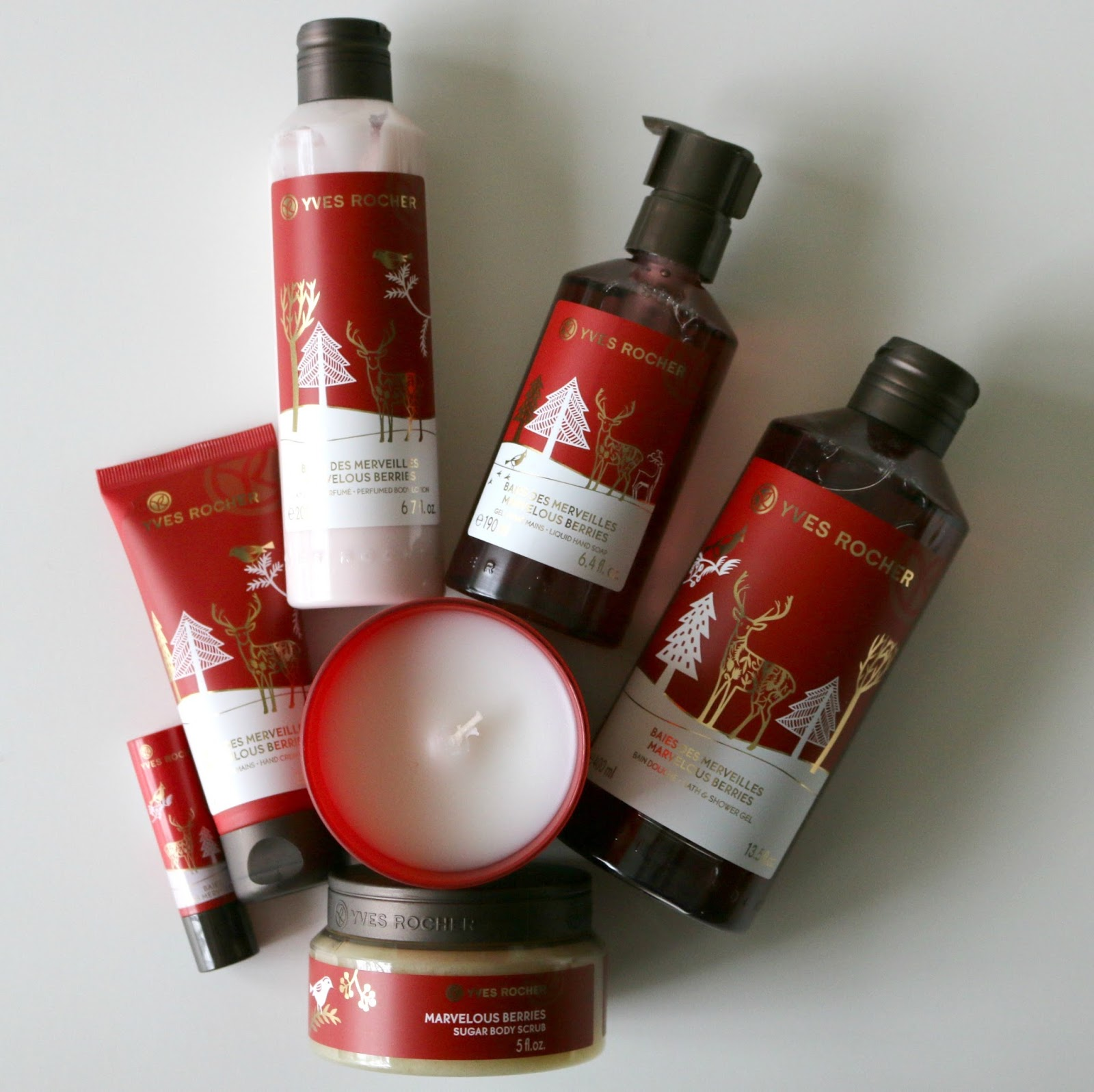 Yves Rocher Marvelous Berries Bath Body Christmas Collection