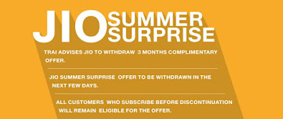 Recharge now and get Jio Summer Surprise offer
