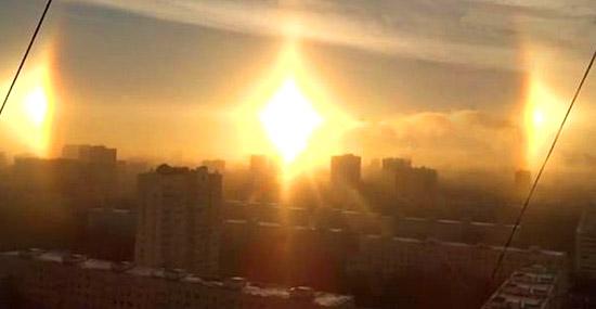 Russos filmam 3 sóis no céu - como isso é possível?