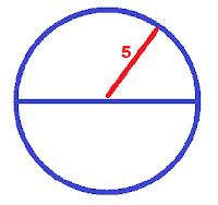 Calculando área da circunferência com raio de 5 cm