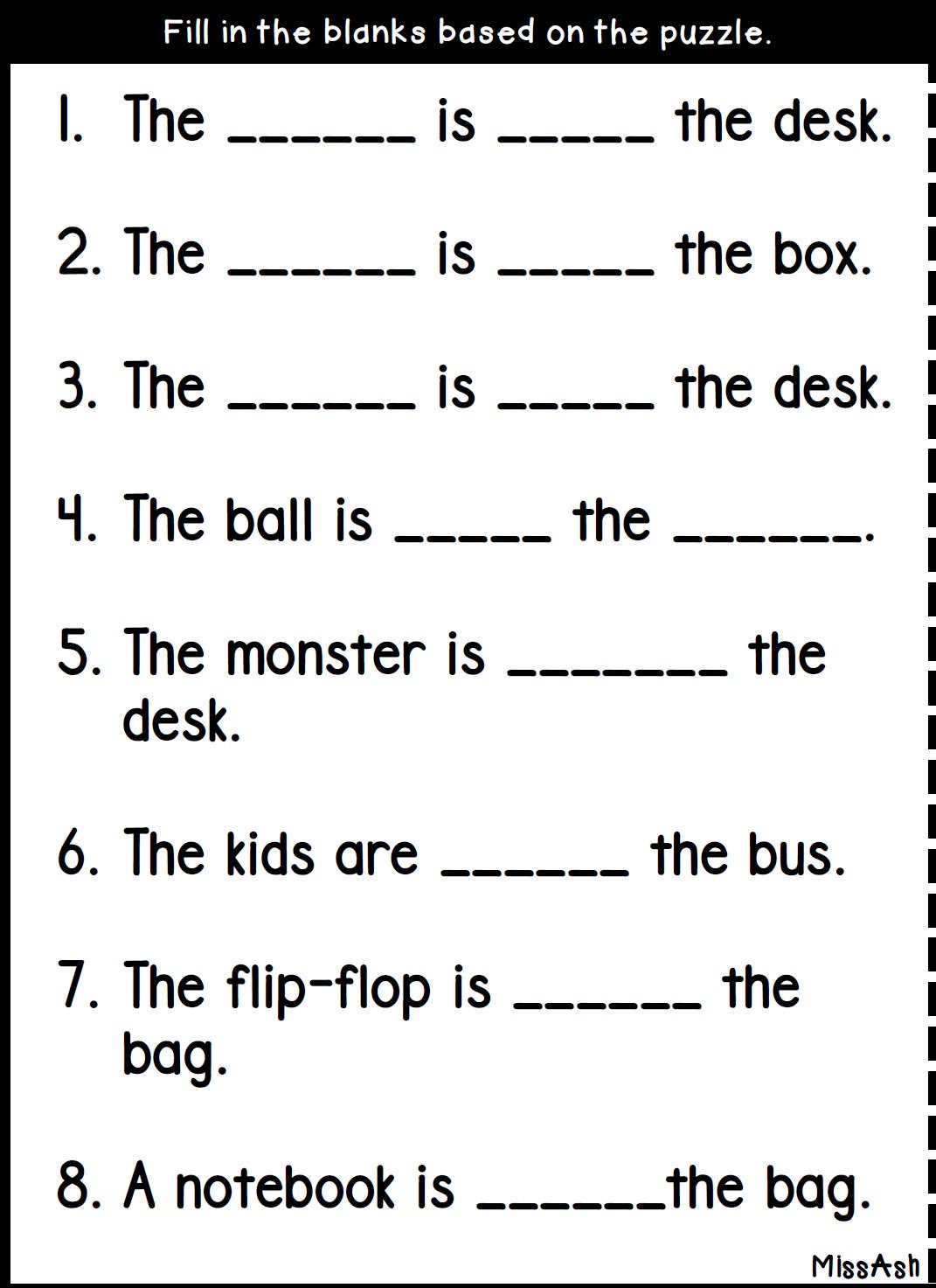 Ash The Teacher Preposition Lesson 94