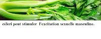 céleri peut stimuler  l'excitation sexuelle masculine.