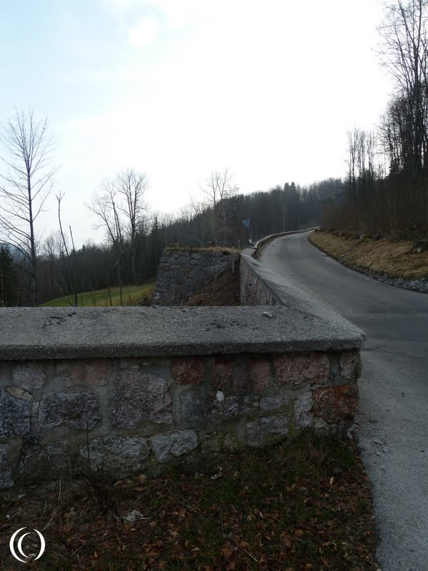 The guardhouse foundations on the other side of the Berghof